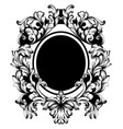 vintage frame classic rich ornamented vector image vector image