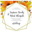 wedding invitation invite card design with orange vector image vector image