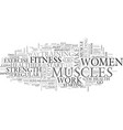 women fitness text word cloud concept vector image vector image