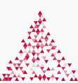 abstract triangle red background vector image