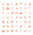 49 concept icons vector image vector image