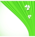 Abstract green stripes background vector image