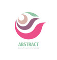 abstract leaves and petals - concept logo design vector image