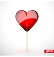 Beautiful lollipop with heart shaped Love vector image vector image