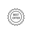 best offer tag icon vector image