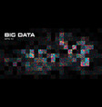 big data visualization abstract background vector image vector image