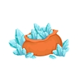Big Sack Of Blue Grystal Gems Hidden Treasure And vector image vector image