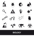 biology icons set eps10 vector image vector image