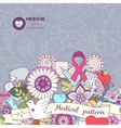 Breast awareness month colorful doodle vector image