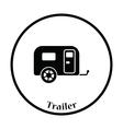 Camping family caravan car icon vector image vector image