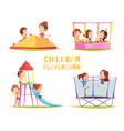 children playground design concept vector image vector image