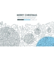 Christmas Doodle Website Template Design vector image vector image