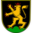coat of arms of heidelberg in baden-wuerttemberg vector image