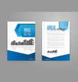 cover annual report brochure flyer template vector image vector image