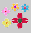 cute flower with shadow on white background vector image vector image