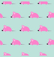 cute kid mice design seamless pattern vector image vector image
