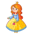 Cute Princess stand on a white background vector image vector image