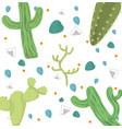 desert plants pattern background vector image vector image