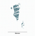 Doodle sketch of Bahrain map vector image vector image