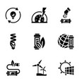 eco energy icon set simple style vector image