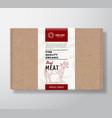 fine quality organic beef craft cardboard box vector image vector image