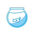 fishbowl icon image vector image