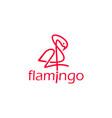 flamingo line art logo design inspiration vector image vector image