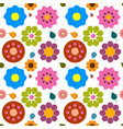 flowers - flat design nature seamless abstract vector image