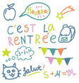 French text Cest la rentree translate Back to Sch vector image