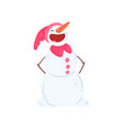 funny snowman character laughing christmas and vector image vector image
