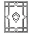 geometric frame looks ancient window frame design vector image vector image