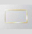 glowing frame isolated on transparent background vector image vector image