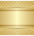 gold pattern with ornament and gradient vector image vector image