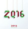 Happy New Year Card Christmas style vector image