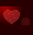 heart icon symbol love abstract schematic from vector image vector image