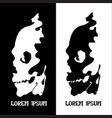 human skull for horror or halloween design as a vector image vector image