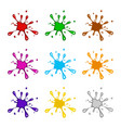 ink paint blob splash set isolated on white vector image