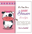 invitation baby shower card with cow desing vector image vector image