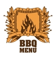 Isolated bbq menu and steak house design vector image