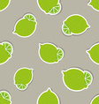 Limes pattern Seamless texture with ripe limes vector image vector image