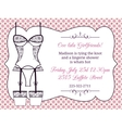 Lingerie bridal shower invitation vector image vector image