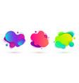 liquid design amoeba banners vector image