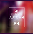 love autumn blurred background vector image