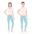 Man and woman drawing vector image