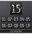 Mechanical scoreboard numbers panel background vector image