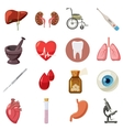 Medical icons set cartoon style vector image vector image