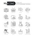 modern thin line icons set supermarket shopping vector image
