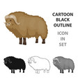 muskox of stone age icon in cartoon style isolated vector image