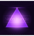 Neon triangle vector image