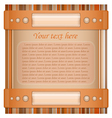 Orange and brown background with layout vector image vector image